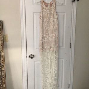 Dresses & Skirts - White lace dress+nude liner. I used for elopement